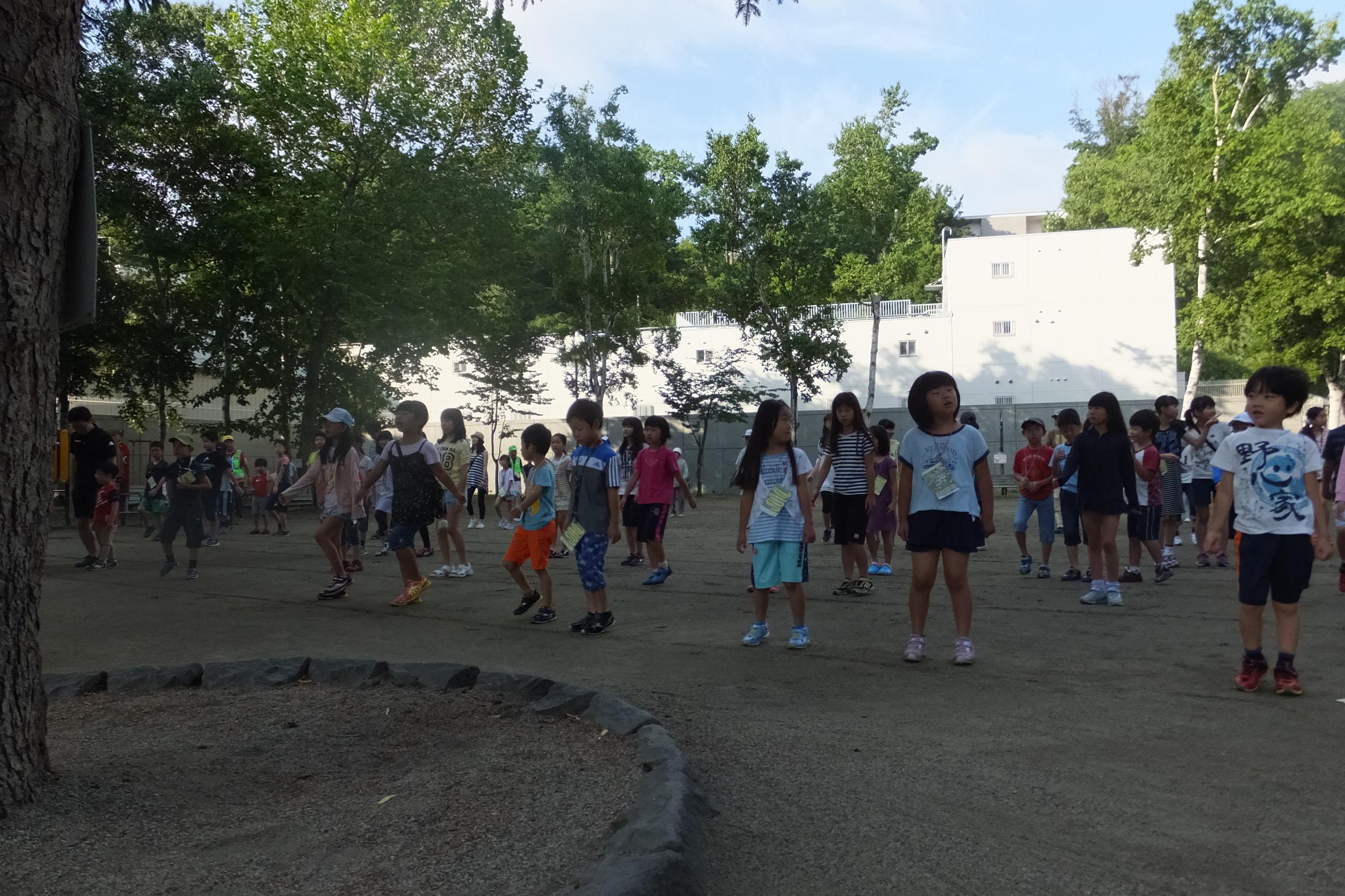 夏休みラジオ体操スタート(2015.7.25)